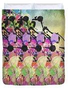 Sun Showers On Flowers Duvet Cover