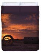 Sun Tunnel Sunset Duvet Cover
