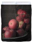 Sun Warmed Apples Still Life Duvet Cover