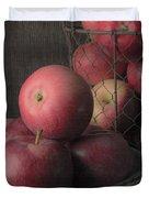Sun Warmed Apples Still Life Square Duvet Cover