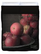 Sun Warmed Apples Still Life Square Duvet Cover