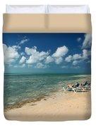 Sunbathers On The Beach Duvet Cover