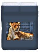 Sunbathing Lioness  Duvet Cover