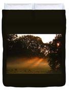 Sunbeams And Fog Duvet Cover