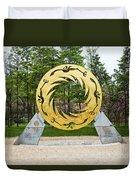 Sunbird Sculpture, Chengdu, China Duvet Cover