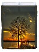 Sunblock A Sunset On Lake Oconee Duvet Cover