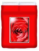 Sunburst On Red Rose With Framing Duvet Cover