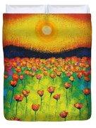 Sunburst Poppies Duvet Cover