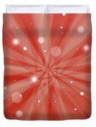 Sunburst Snow Red Duvet Cover