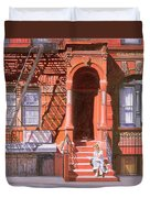 Sunday Afternoon East 7th Street Lower East Side Nyc Duvet Cover