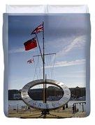 Sundial St Katherines Dock Duvet Cover
