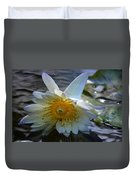 Sundown At Lotus Pond Duvet Cover