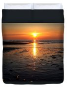 Sundown At The North Sea Duvet Cover