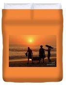 Ocean - Sundown Sunset Duvet Cover