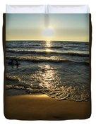 Sundown On The Beach Duvet Cover