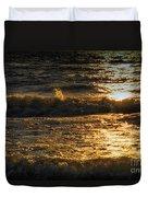 Sundown On The Waves Duvet Cover
