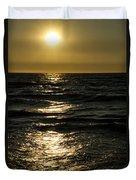 Sundown Reflections On The Waves Duvet Cover