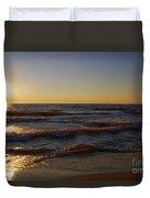 Sundown Scintillate On The Waves Duvet Cover