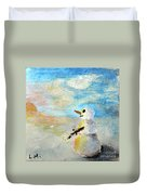 Sundown Snowman Duvet Cover
