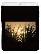 Sundown Through The Grass Duvet Cover