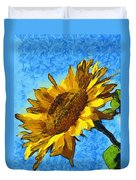 Sunflower Abstract Duvet Cover by Unknown