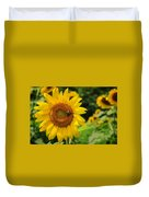 Sunflower And Bee II Duvet Cover