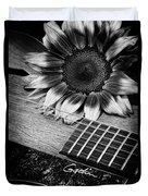 Sunflower And Guitar Duvet Cover