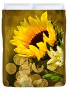 Sunflower And The Lights Duvet Cover