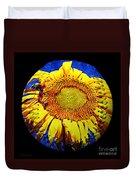 Sunflower Baseball Square Duvet Cover