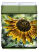 Sunflower Bokeh Duvet Cover