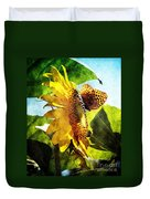 Sunflower Butterfly And Bee Duvet Cover