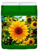 Sunflower Centered Duvet Cover