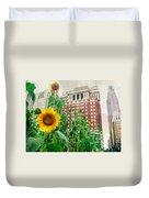 Sunflower City Duvet Cover