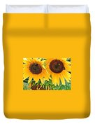 Sunflower Close Up Duvet Cover