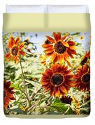 Sunflower Cluster Duvet Cover