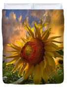 Sunflower Dawn Duvet Cover by Debra and Dave Vanderlaan
