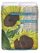 Sunflower Dictionary 2 Duvet Cover