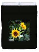 Sunflower Duo Duvet Cover