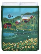 Sunflower Farm Duvet Cover