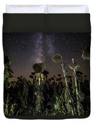 Sunflower Field At Night Duvet Cover