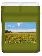 Sunflower Field New Jersey Duvet Cover