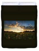 Sunflower Field Sunset Duvet Cover