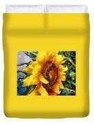 Sunflower Heart Duvet Cover