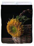Sunflower In A Basket Duvet Cover
