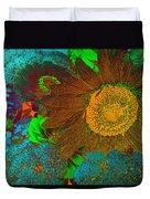 Sunflower In Brown Duvet Cover