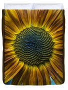 Sunflower In Rain Duvet Cover
