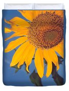 Sunflower In The Corner Duvet Cover
