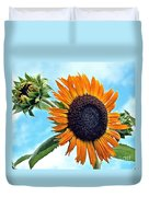 Sunflower In The Sky Duvet Cover