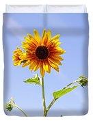 Sunflower In The Sky Duvet Cover