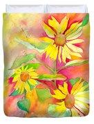 Sunflower Duvet Cover by Kelly Perez